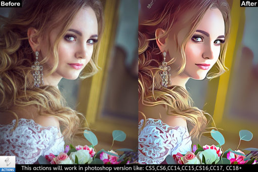painting effects for portraits in Photoshop