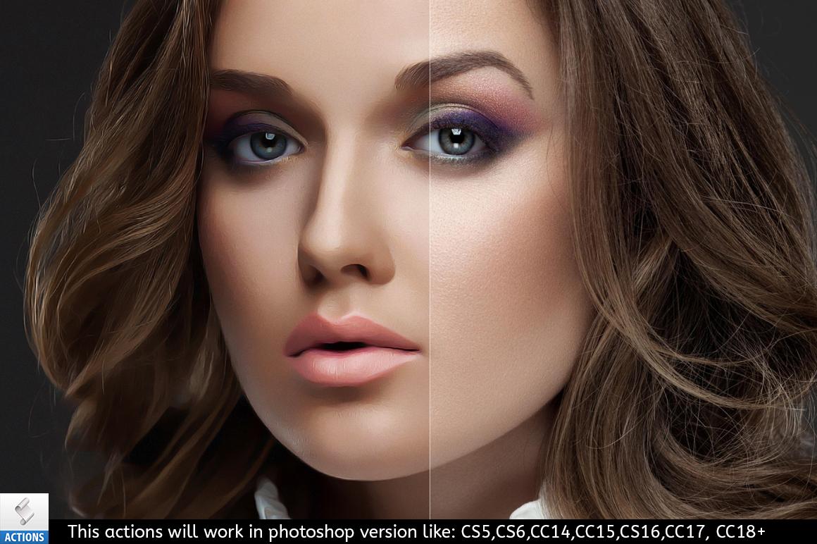 makeup paint photoshop action