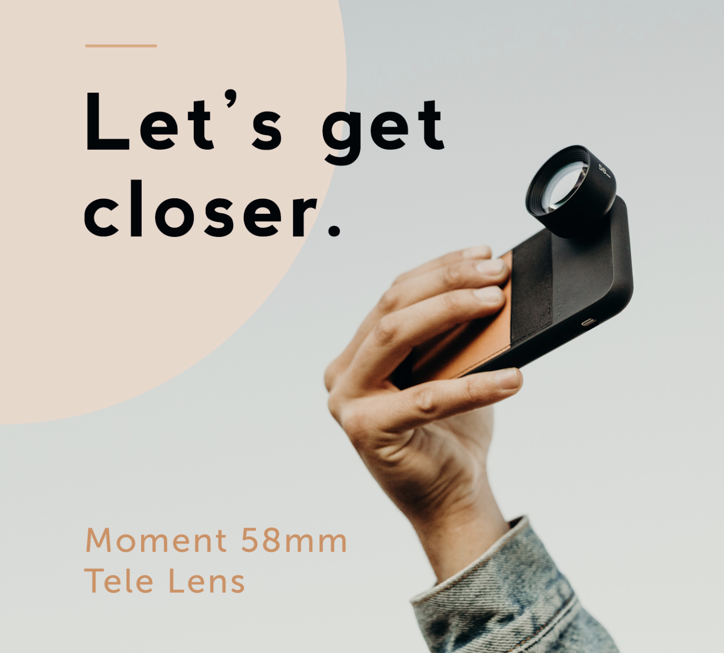 moment 58mm tele lens for mobile photography