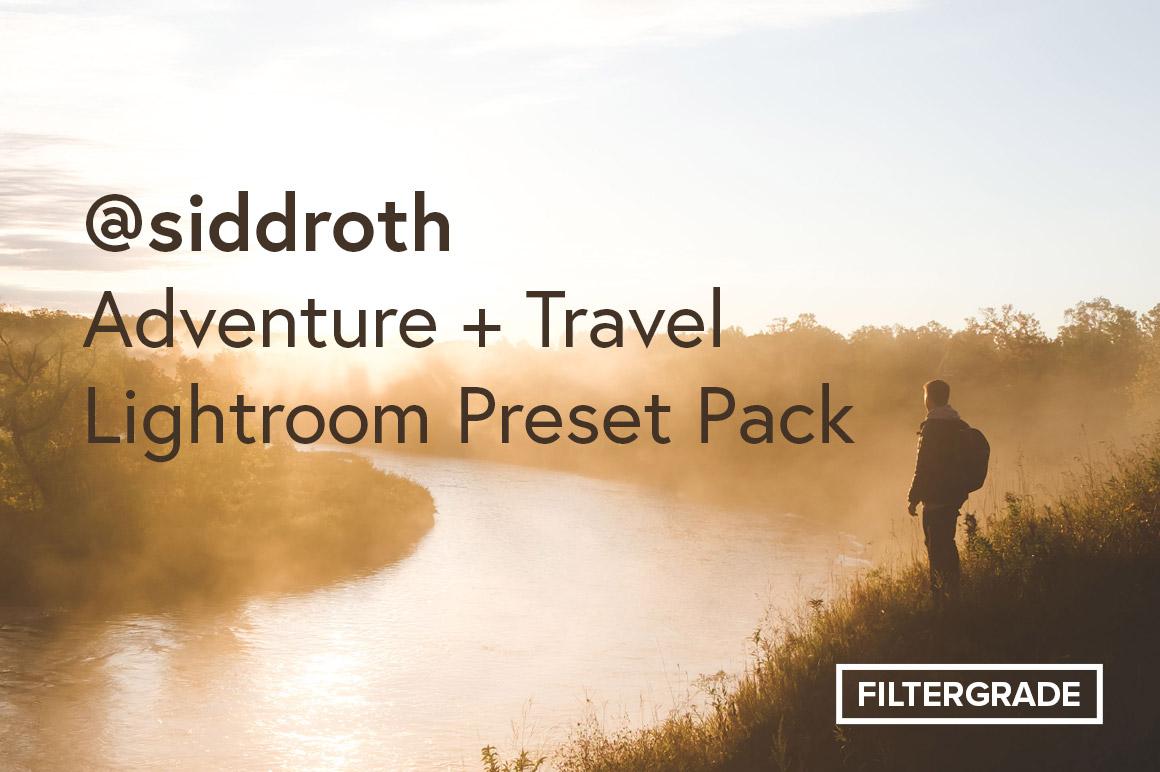@siddroth adventure lightroom preset pack