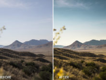golden mountain lightroom preset