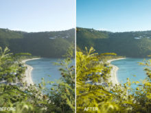 colorful beach preset