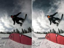 winter action sports lightroom presets