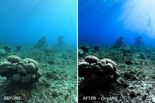underwater photo edit