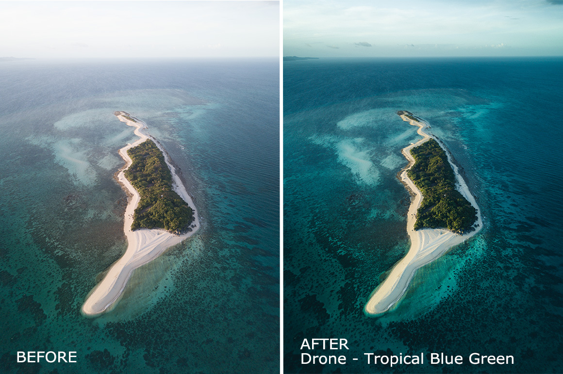 drone tropical presets for mobile iphone