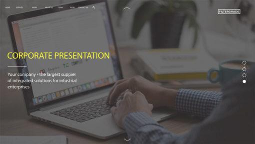 corporate presentation ae template