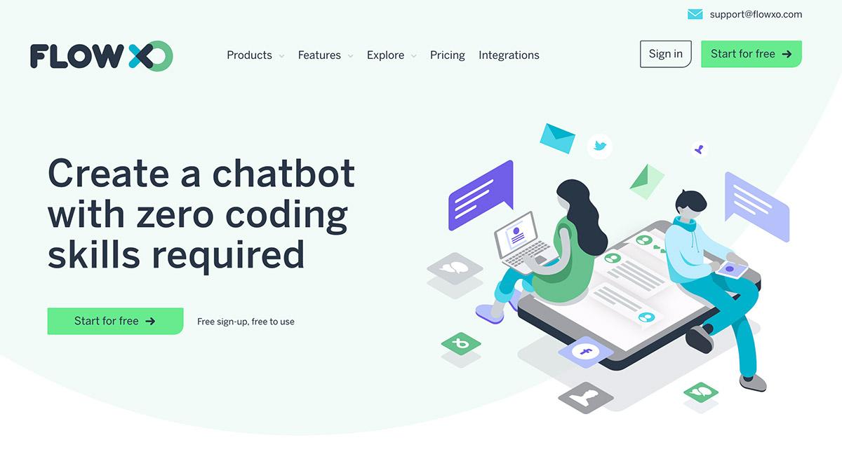 flowxo chatbot software