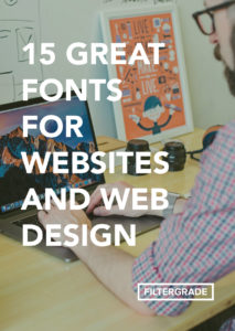 Great fonts for web design and websites.