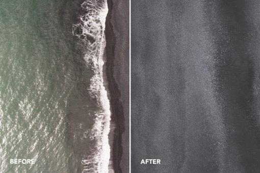 black sands beaches