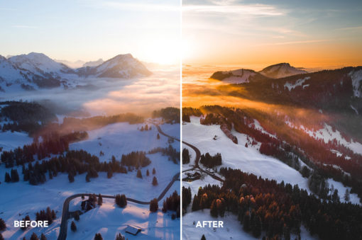 travel effects mountainscapes