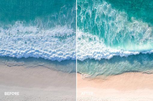 waves crashing photo