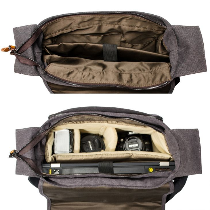 camera lens shoulder bag