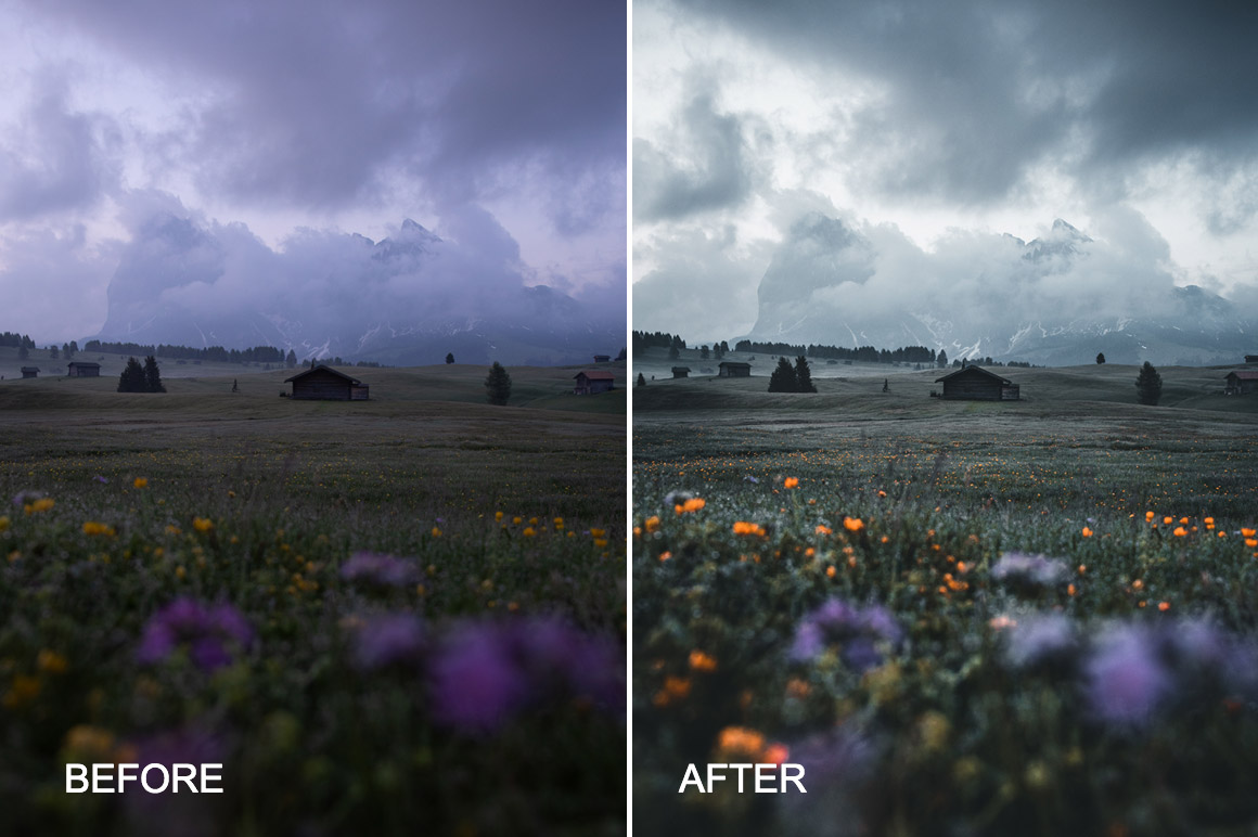 moody landscape presets