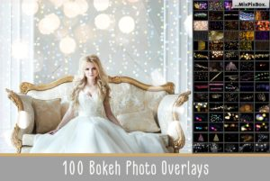 100 bokeh photo overlays bundle mixpixbox