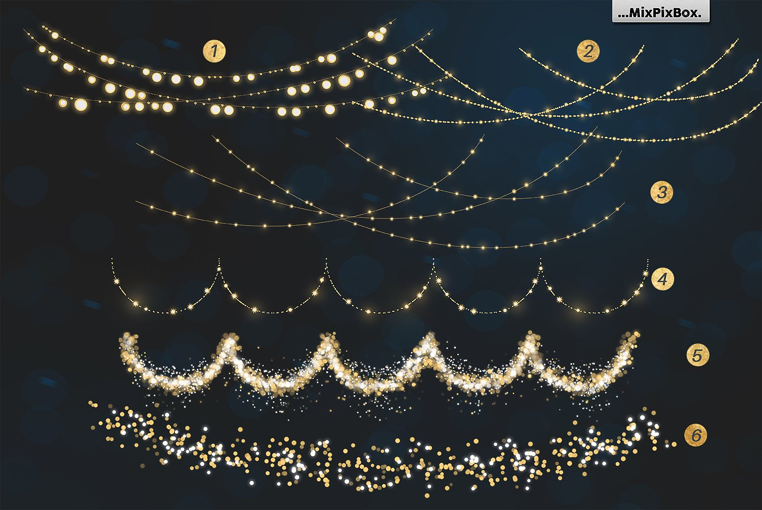 Christmas Lights Overlay Png.Christmas Lights Photo Overlays Bundle