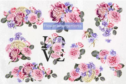 flowers clipart bundle by mixpixbox