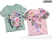 floral designs for overlay