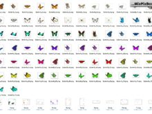 butterflies photo overlays bundle
