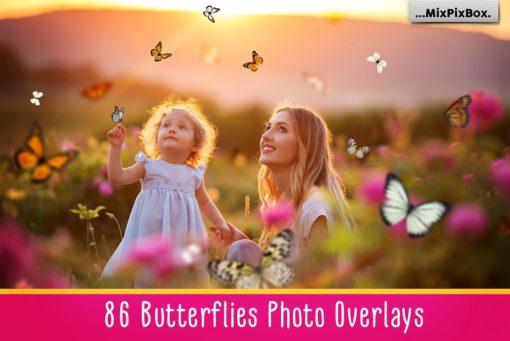 86 Butterflies Photo Overlays Bundle