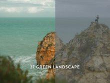 green landscape luts