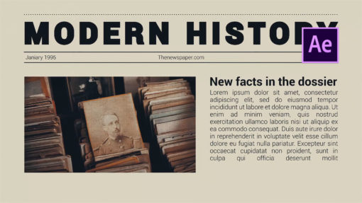 Newspaper Opener After Effects Template