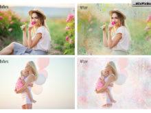 digital background pastel paint