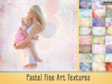 Pastel Fine Art Textures Photo Overlays by MixPixBox