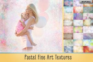 Pastel Fine Art Textures Photo Overlays by MixPixBox