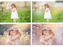 bokeh pastel photo overlays