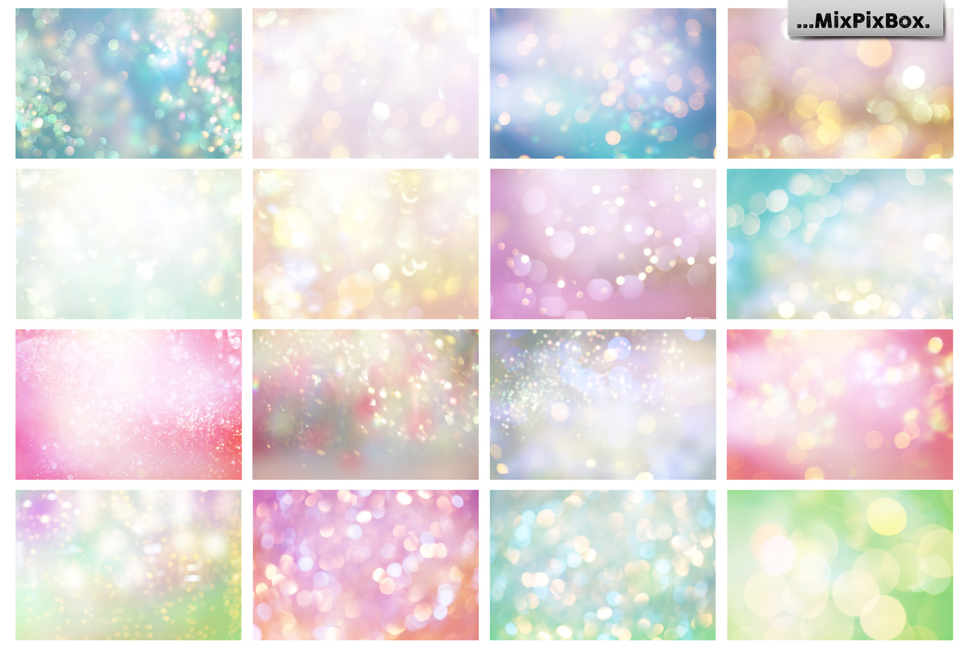 pastel digital backdrops with bokeh