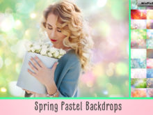 Spring Pastel Backdrops by MixPixBox