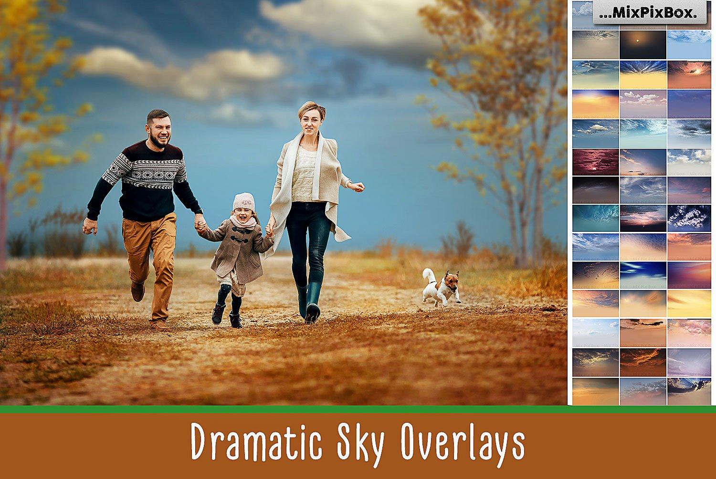 Dramatic Sky Photo Overlays by MixPixBox