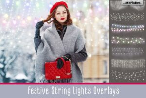 Festive String Lights Overlays