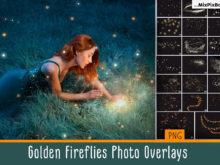 Golden Fireflies Photo Overlays