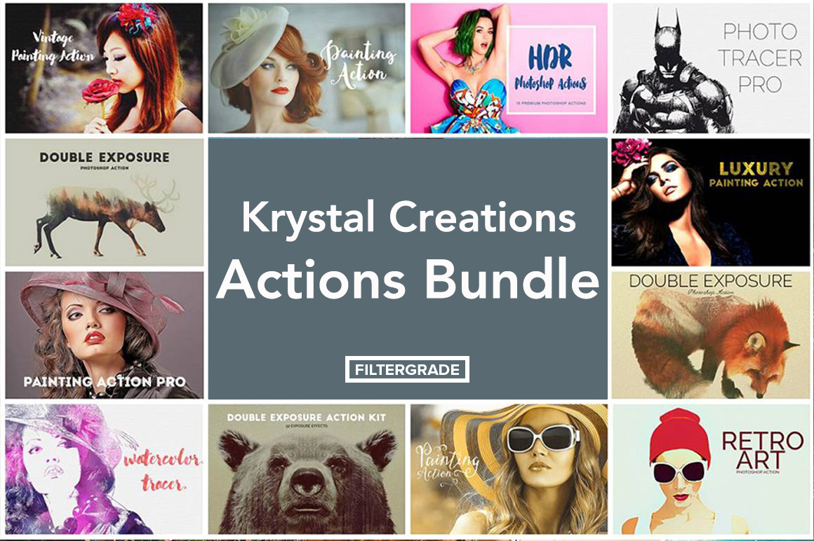 Krystal Creations Photoshop Actions Bundle