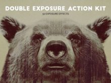 Krystal Creations Double Exposure Photoshop Actions Kit