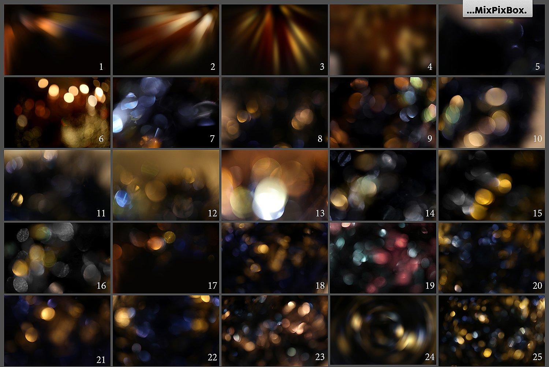 bokeh and flare photo overlays bundle