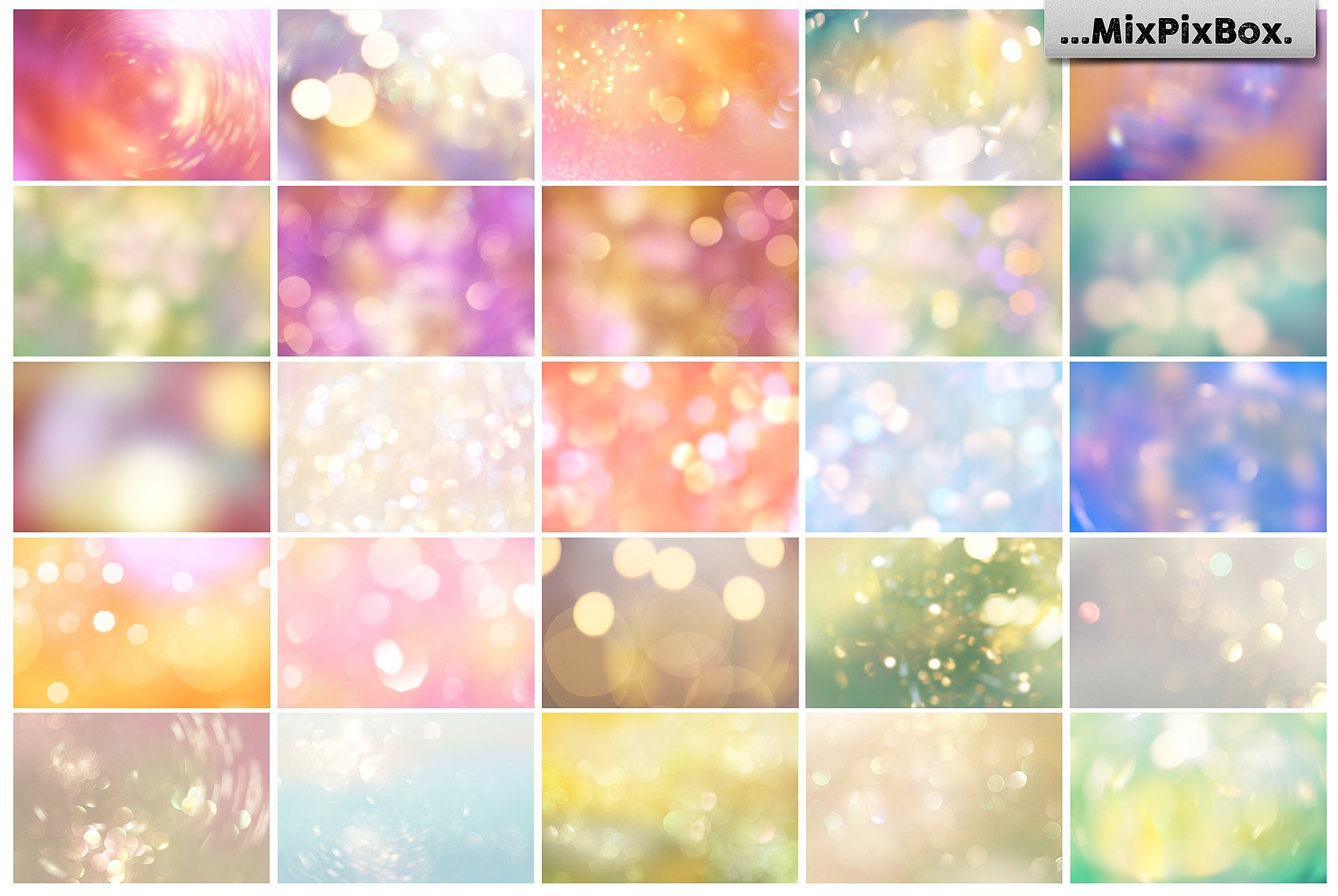 bokeh photo overlays summer theme