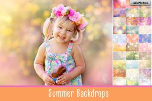 Summer Backdrops Bokeh Textures by MixPixBox