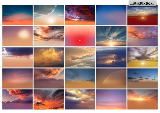 sunset sky backgrounds mixpixbox