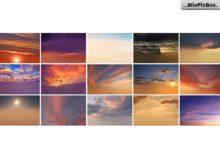 sunset sky backdrops