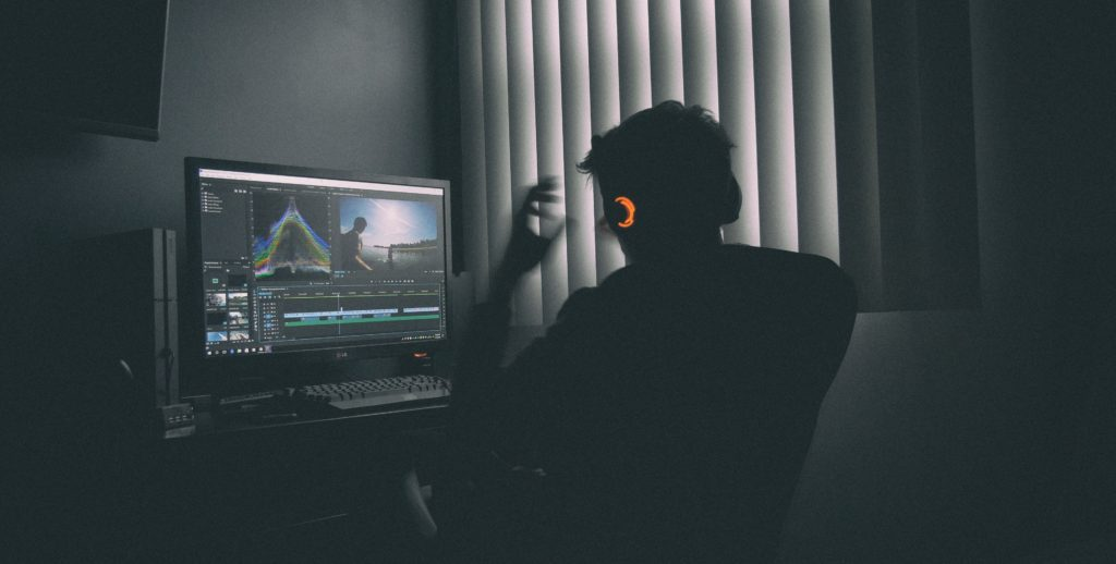 person stressing out while looking at premiere pro timeline