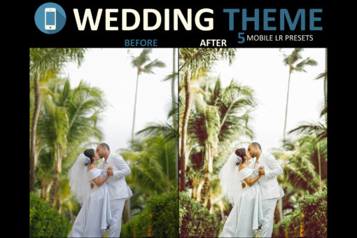 tropical wedding filter