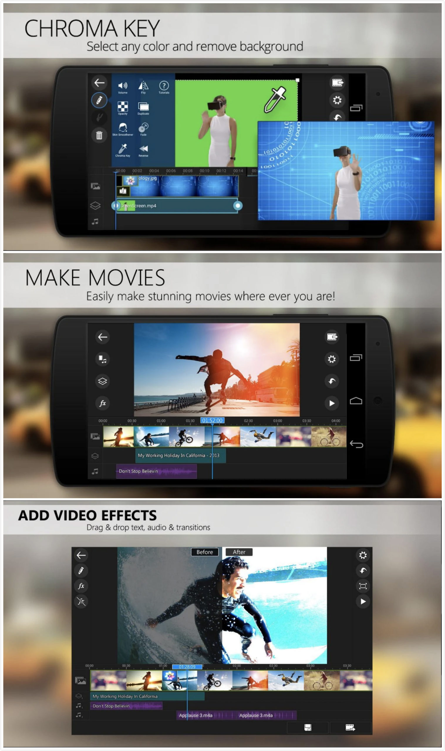 Best Free Android Video Editor Apps 2019 Filtergrade