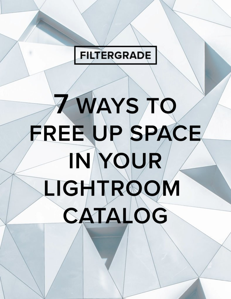 7 Ways to Free Up Space in Your Adobe Lightroom Catalog - FilterGrade
