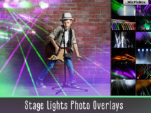 Stage Lights Photo Overlays