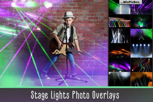 Stage Lights Photo Overlays