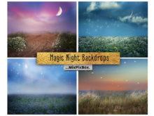 Magic Night Backdrops + Photo Overlays