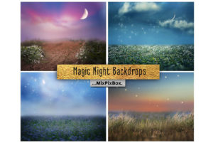 Magic Night Backdrops + Photo Overlays
