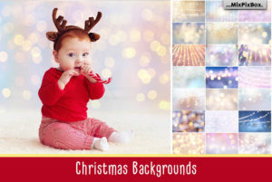 Christmas Backgrounds & Overlays Bundle
